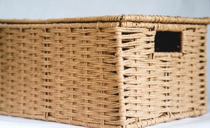 Плетеные корзинки из шпагата – природность снова в моде