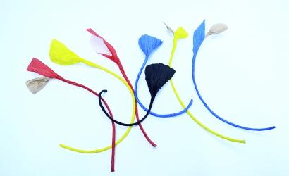 Бумажный шпагат для стильных люстр и абажуров
