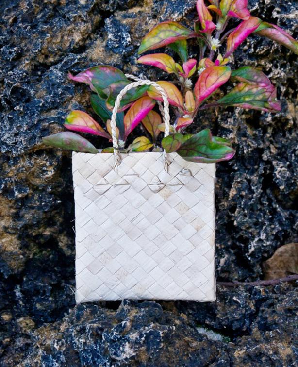 Сумка плетеная из натуральной абаки