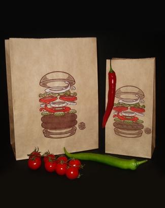 Пакет крафтовый с цветной печатью