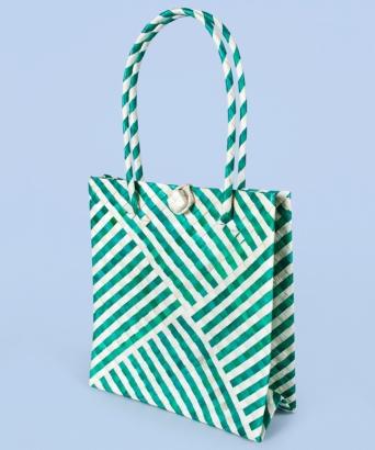 Эко-сумка из листьев пальмы