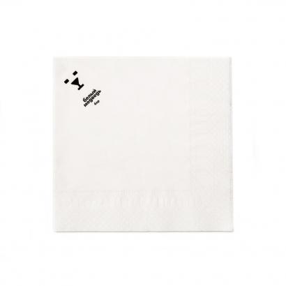 Белая двухслойная салфетка