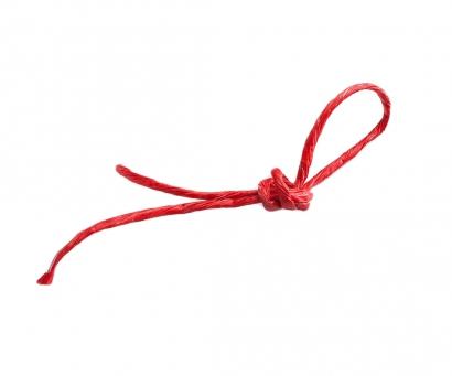 Шпагат бумажный красный