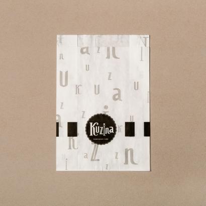 Бумажный крафт-пакет для фастфуда