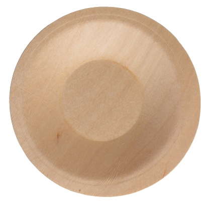 Тарелка деревянная круглая